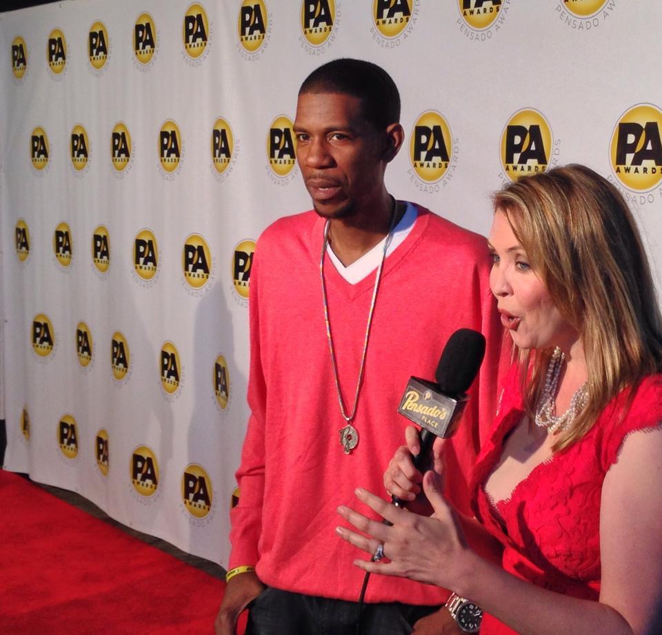 Stephanie Willis interviewing DJ Young Guru at Pensado Awards