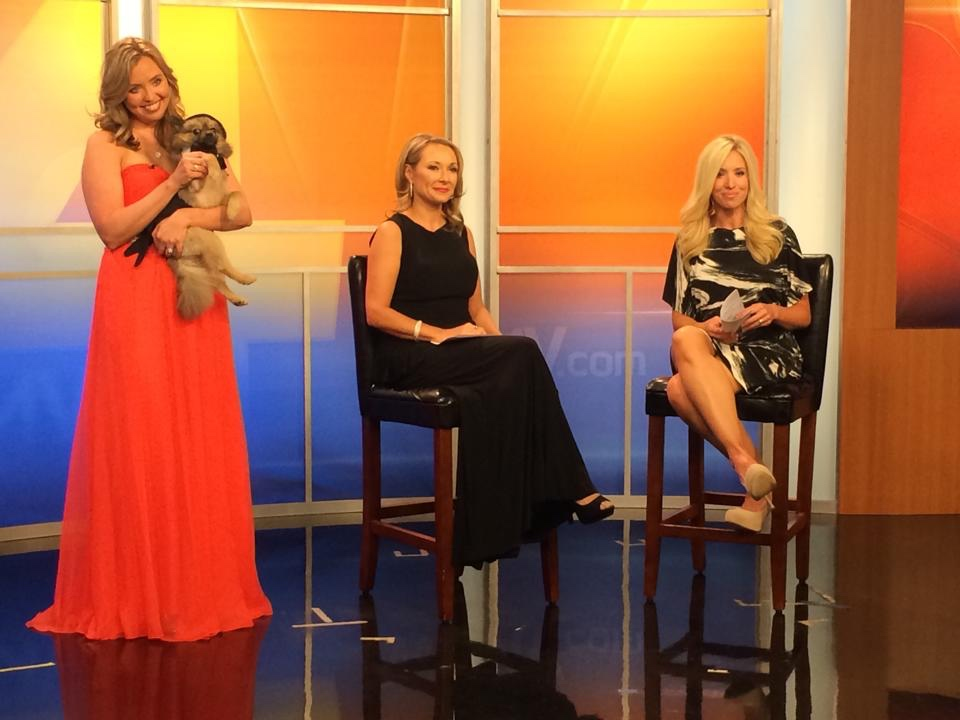 Stephanie Willis with CMT's Katie Cook and WSMV's Kacy Hagerty
