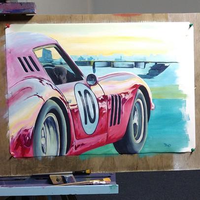 """""""Twilight Racer"""" - Acrylic on canvas - 60cm x 40cm."""