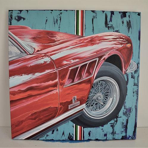 'Lusso' acrylic on canvas, 71cmx71cm