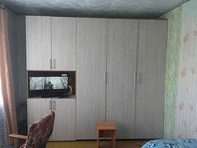 Соединение и переделка из двух шкафов в одну стенку и место для ТВ