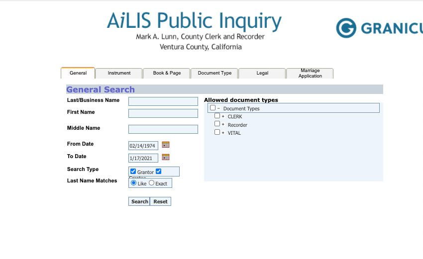Ventura County Fictitious Business Name Search