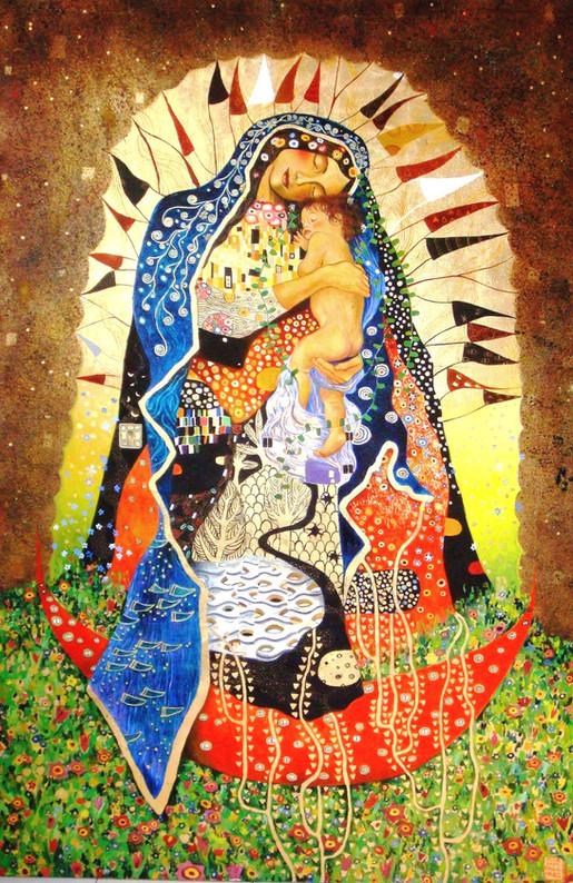 Guadalupana a la Klimt