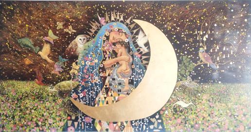 Virgen a la Klimt