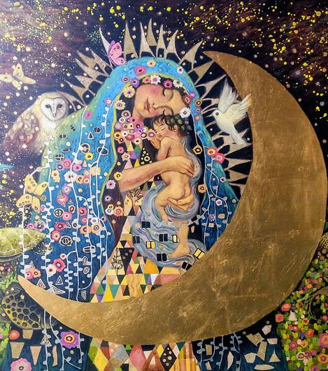 """""""Virgen a la Klimt"""""""