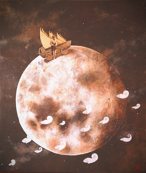 """""""Día de pesca en los mares lunares"""""""