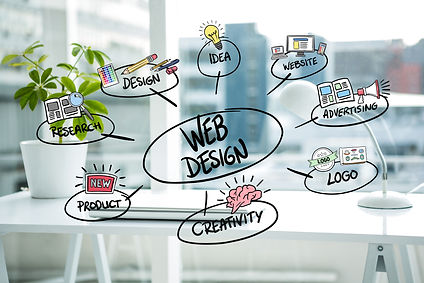Infographie concept du webdesign