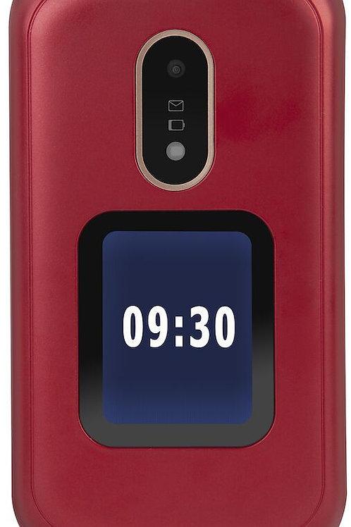 Téléphone Doro 6060 rouge avec ecran LCD