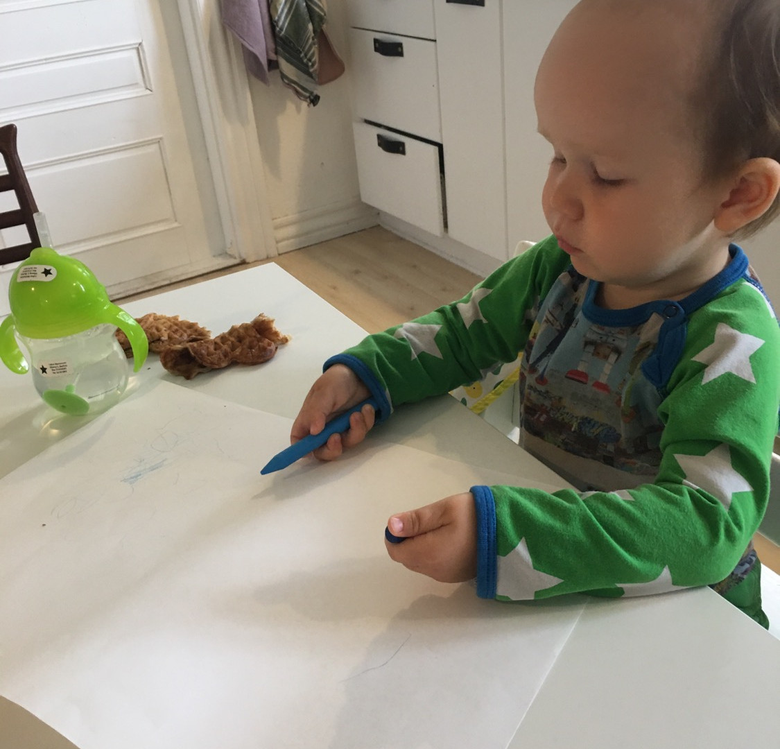 Tegning i køkkenet