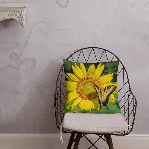 Premium Pillow - Sunflower Butterfly