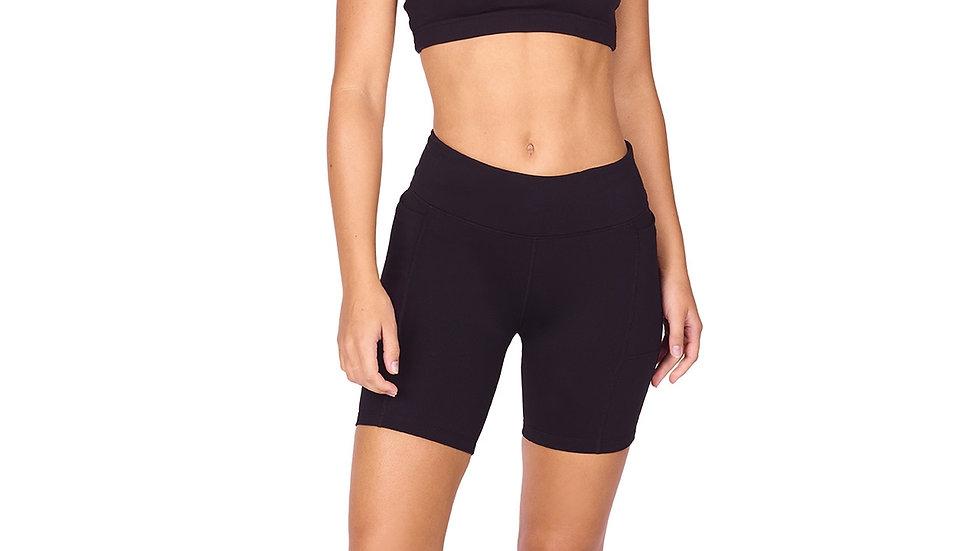 Endurance Dual Pocket Mid-Thigh Tight - Black