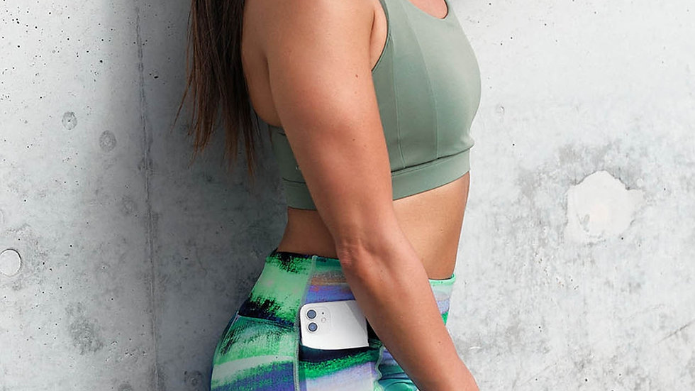 Endurance Dual Pocket Mid Thigh Tight - Brushed Blur