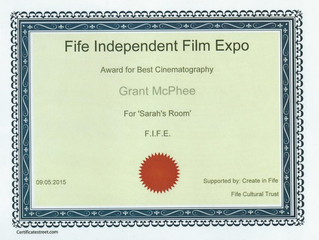 Awards : TF1 'Sarah's Room' Winds Best Feature and Best Cinematography at Fife Film Expo