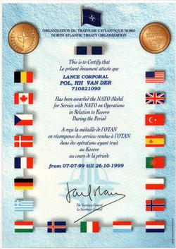 Kosovo NATO uitzending