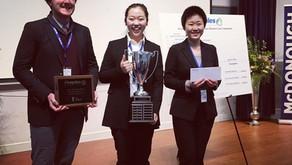 Amanda Shen, WIA/Pius XI 2017 graduate,  won People's Bank Business Case Competitions