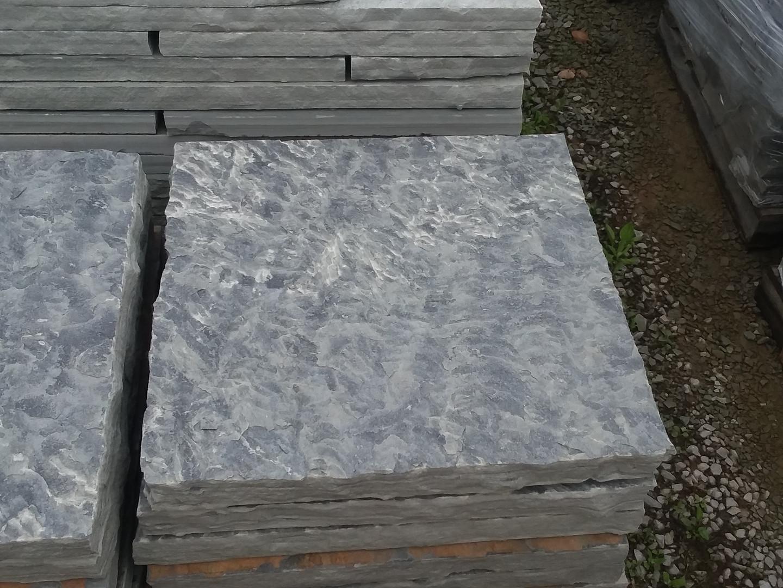 Gray natural top 24 x 24 textured steppi