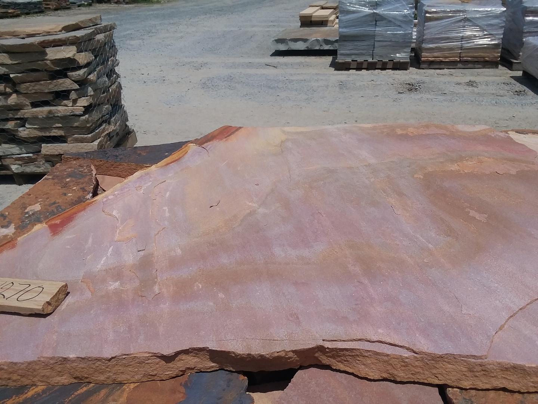 "2"" pink and tan flagstone"