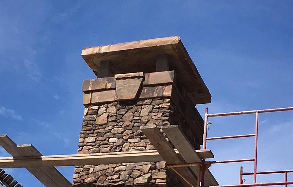 Large brown chimney cap