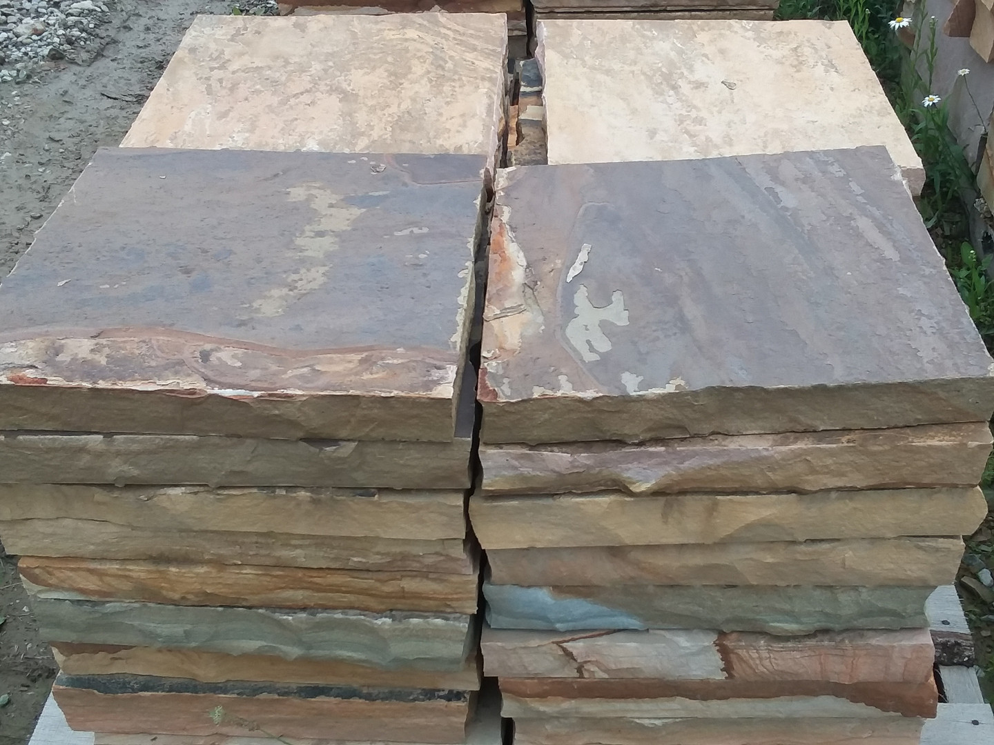Brown 18 x 18 stepping stones