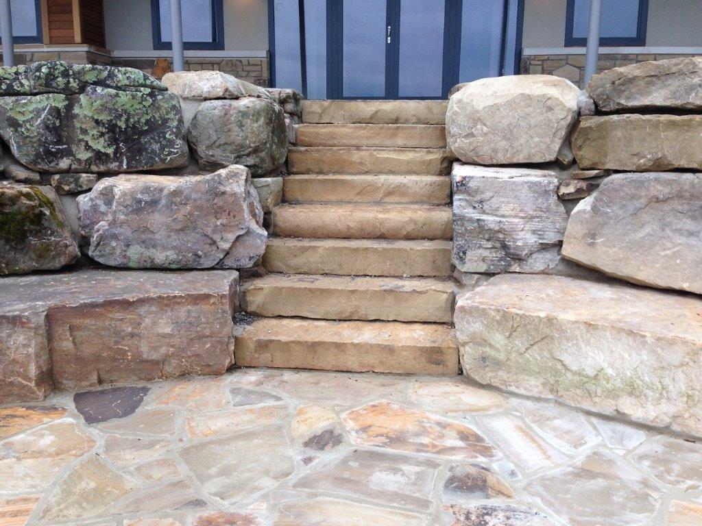 Brown steps by Artistic Masonry