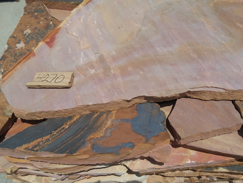 Regular pink and tan flagstone