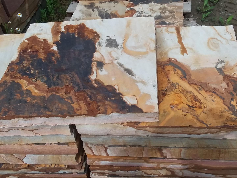 Brown tan 24x24 stepping stones