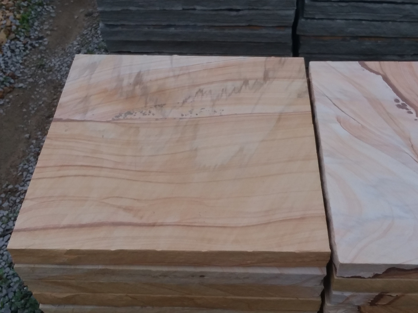 Brown and tan special cut stone