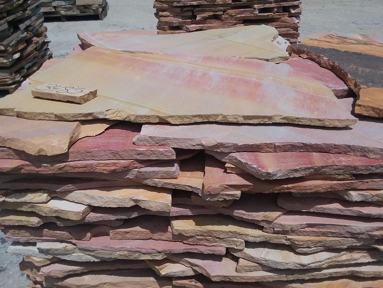 Pink and tan thin flagstone