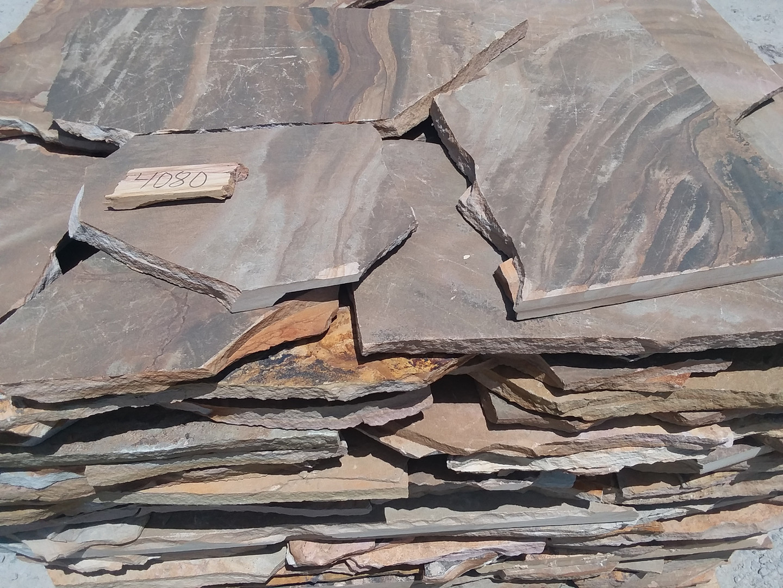 Brown and tan thin flagstone
