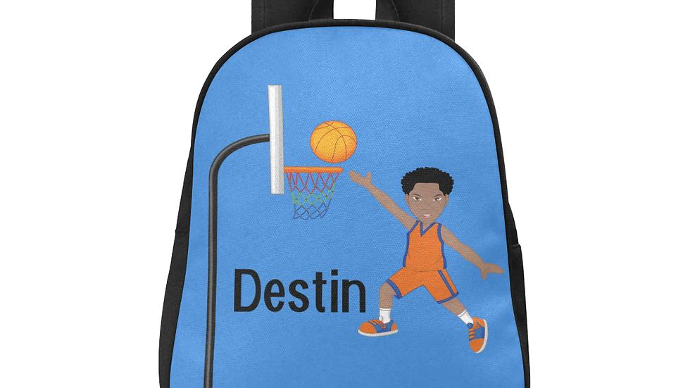 Destin's Basketball Layup Fabric Backpack