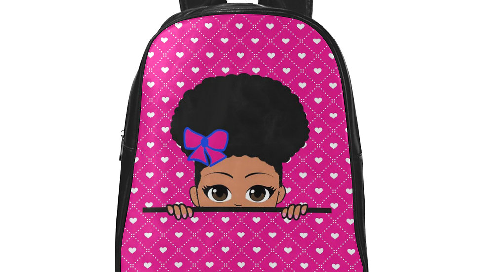 Dahlia's Peek-a-Boo Girl's Fabric Backpack