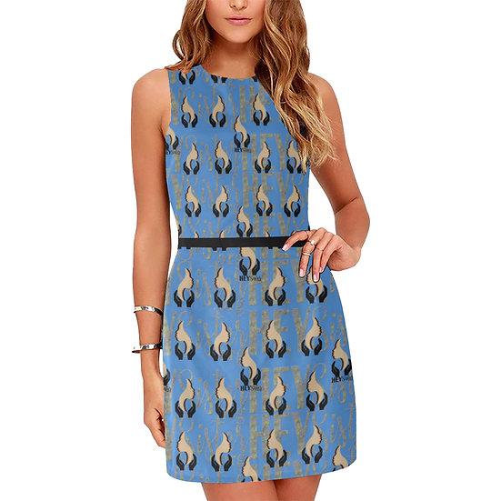 DENIM wear Sleeveless Midi Dress