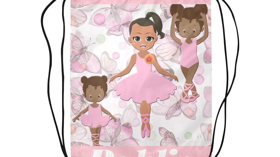 Dahlia's Tip-Toe Ballerina Drawstring Backpack