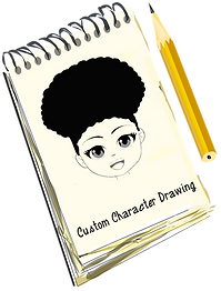 custom character drawing pic with Dahlia
