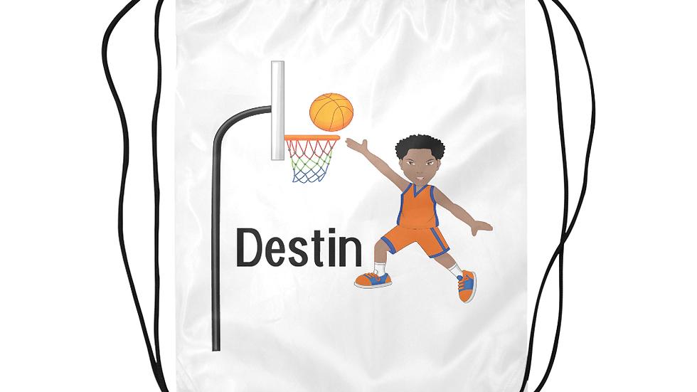 Destin's Basketball Layup Drawstring Backpack