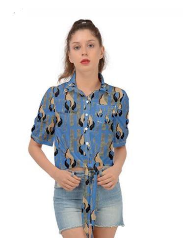 DENIM Wear Tie Front Blouse