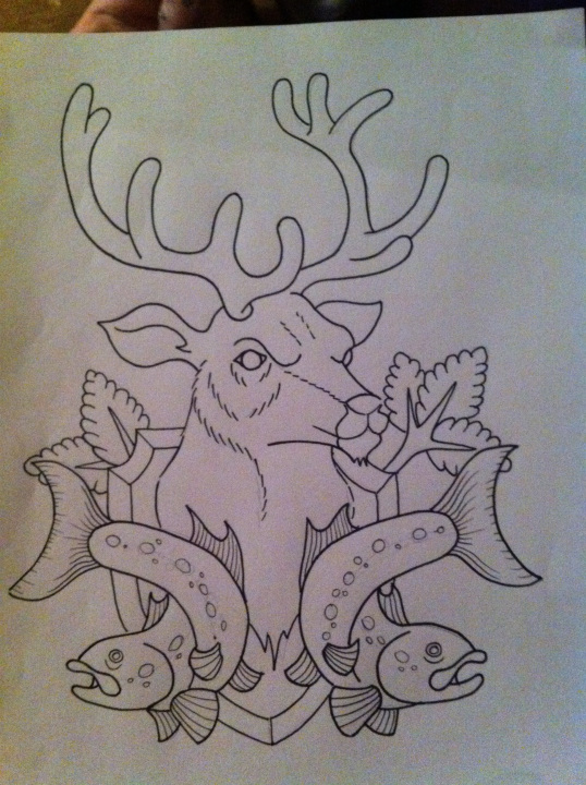stag and salmon