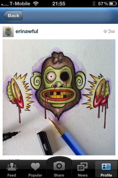 zombie cymbal monkey