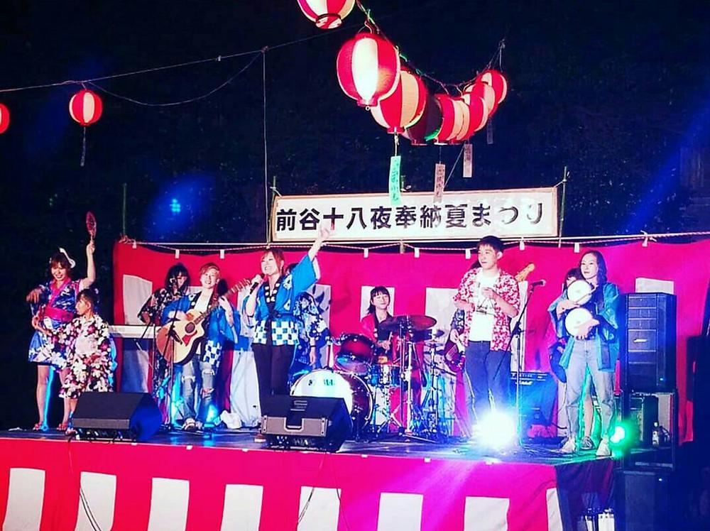 soundream サウンドリーム 前谷 十八夜 奉納 夏祭り 写真 画像