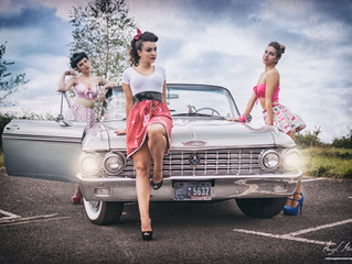 Chicas Pin-Up y Market de Mariposas en invierno