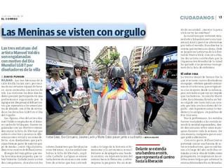 ¡Vestimos con orgullo a Las Meninas de Bilbao!