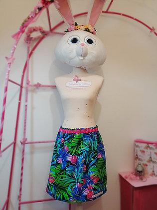 Falda Tropical Neon, falda hecha a mano