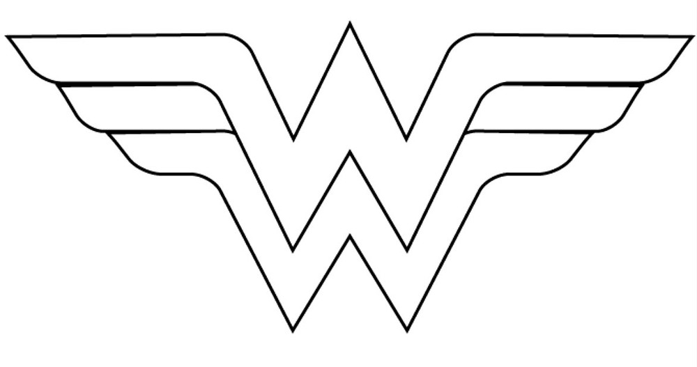 Plantilla Logo Wonder Woman