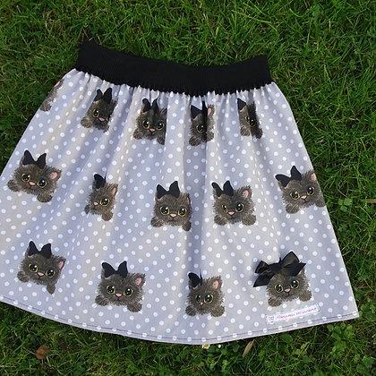 Falda gatos y lunares