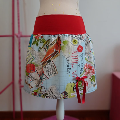 Falda pin up, falda original hecha a mano