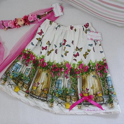 Falda  Mujer Mariposas y flores