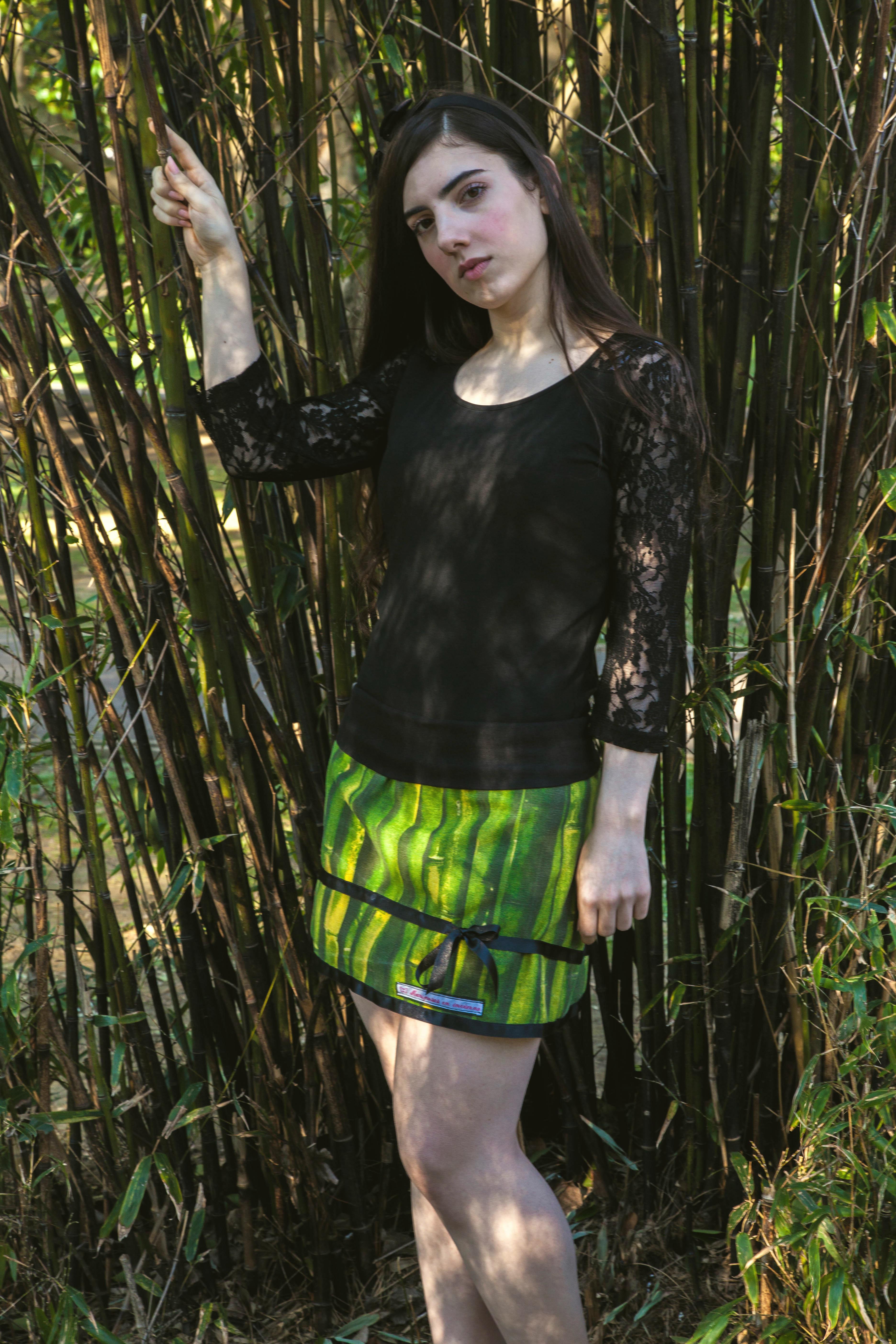 Falda Bamboo. Mariposas en invierno