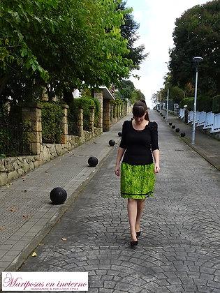 Falda corta hierba fresca Mariposas en invierno hecha a mano en Bilbao