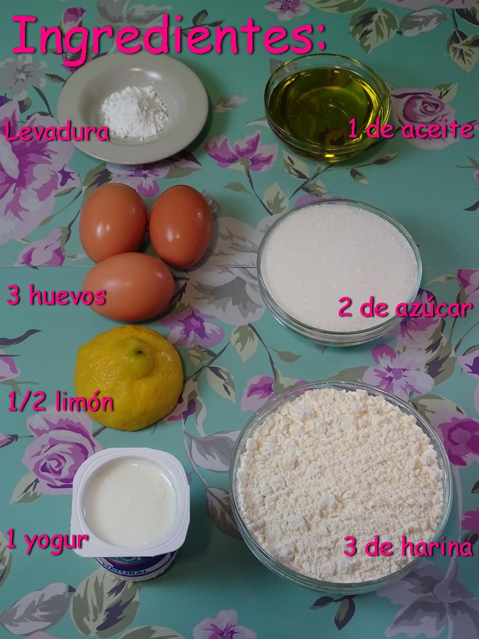 Ingredientes bizcocho de limón