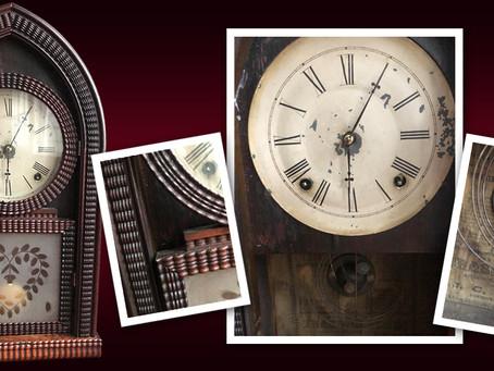 "19th Century J.C. Brown ""Ripple Front"" Clocks"